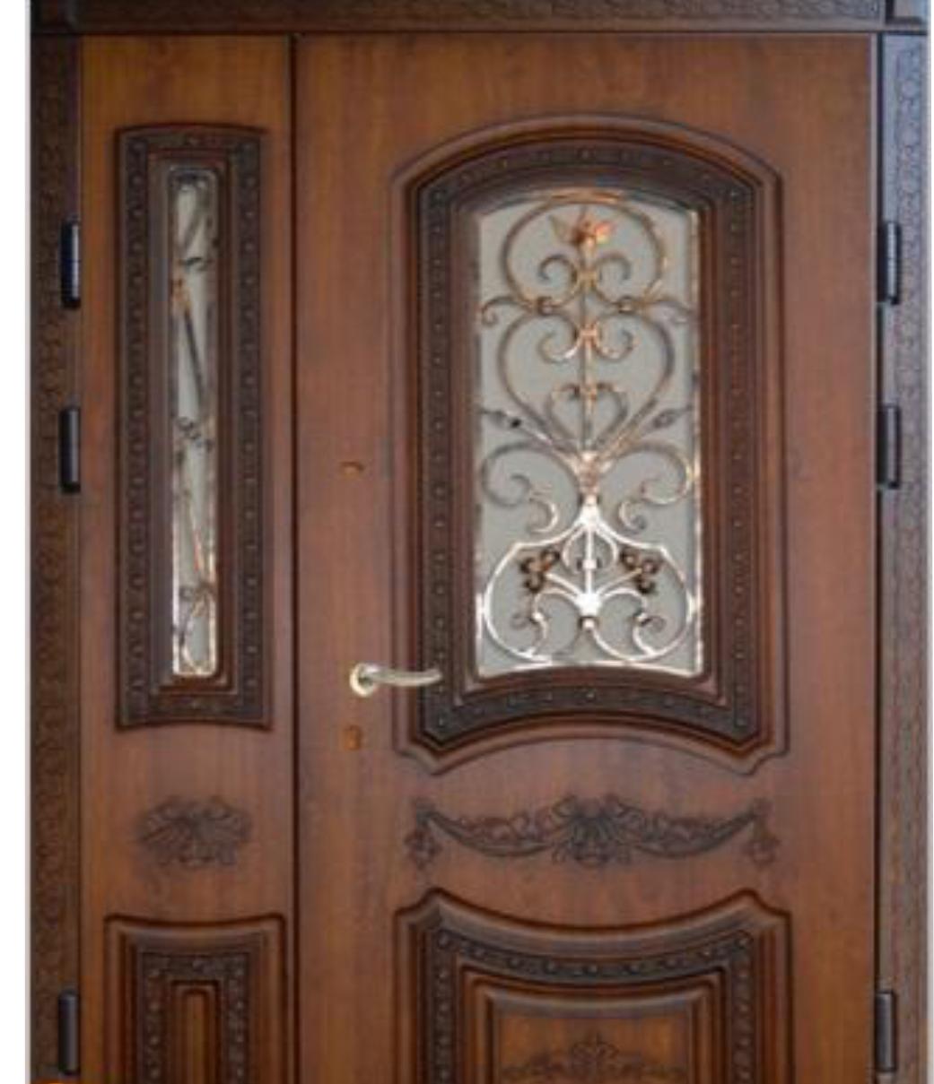 Вхідні двері подвійні зовнішні модель №31 від ТМ «Фасад»